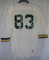 #83 Vintage Packers Ducks Eskimos Colors Durene Game Used Worn Football Jersey