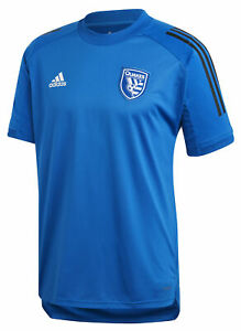 adidas San Jose Earthquakes MLS Men's Soccer Training Jersey, Master Blue/Black
