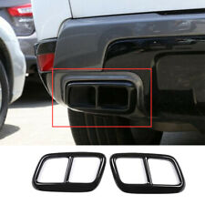 Steel Black Exhaust Muffler Tail Pipe Trim For Land Rover Range Rover Sport 2020