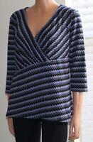 Women's Dana Buchman 3/4 Sleeve Blouse Top Size L