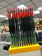 1 Dozen Greenacres Premium Spine Aligned Carbon Arrows by Victory w/Blazer Vanes