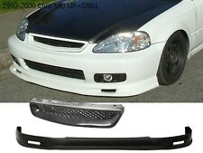 For 99-00 Honda Civic MUGEN Front lip+Front Grill FAST SHIP FREE USA