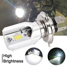 Super bright Headlight Bulb LED Motorcycle 1x H4 BA20D DC 6V-80V 12W COB Beam