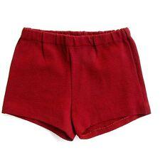 Authentique vintage Short enfant - Rouge - Créatex - Maillot Bain - T8Ans -