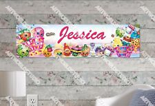 Personalized/Customized Shopkins Name Poster Wall Art Decoration Banner