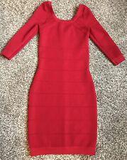 Kardashian Kollection women's red Small bandage 3/4 sleeve dress size XS