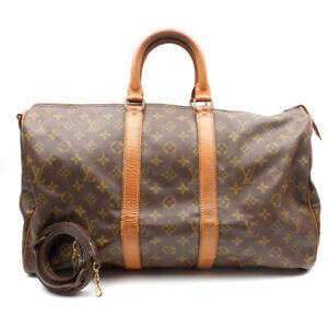 LOUIS VUITTON Keepol 45 Boston Bag Shoulder Bag Monogram Brown M41428