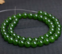 "diy 8 mm natural emerald gemstone round loose beads 15"" strand AAA"