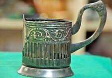 Vintage Russian Soviet Melchior podstakannik tea glass holder