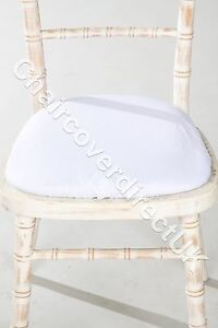 Chiavari Chair Polyester Seat Pad Covers, Shower Caps ,Protector Various Colours