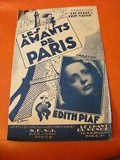 Partition Les Amants de Paris Edith Piaf Léo Ferré & Eddy Marnay