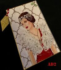 Art Deco Range Delights Merry Christmas Cards White Happy New Year Wish Cards