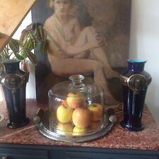 🦋art Nouveau Cuisine Chic Grande Cloche Ancienne Verre Soufflé Napoléon III