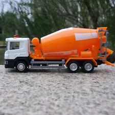 "Orange Scania P-Series Cement Truck 6"" Alloy Diecast Model Car 1:64 Toys Slide"