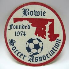 Vintage Patch - Bowie Soccer Association - Maryland & Soccer Ball Picture