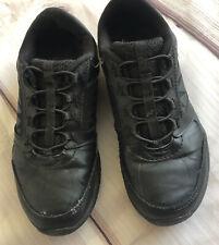 Big Kids Size 7Y Sneakers Shoes Black Slip on
