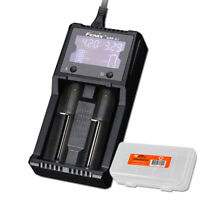Fenix ARE-A2 2-Slot Battery Charger for 18650 & More w/ Bonus Battery Organizer