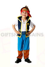 Child Jake Neverland Pirates Boys Costume S:4-6 FREE TATOOS, TELESCOPE LICENSED