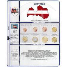 Foglio + tasche per monete euro Lettonia 2014 * Master Phil