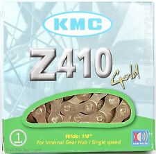 "KMC Z410 Gold Bike Chain 1/2"" x 1/8"" 112L 8.6mm Single-Speed BMX Fixed Gear"