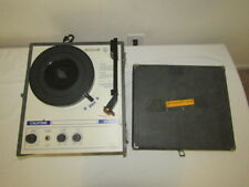 Califone 1430C record player, turntable Vintage Portable phonograph Tested Works
