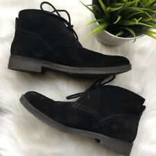 LUCKY BRAND Garboh Black Suede Chukka Ankle Boots Women's 7 EUC