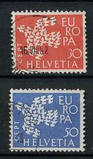 Svizzera 1961 SG # 653-4 Europa usati Set #A 69993
