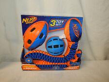 New listing Nerf Dog T 00005Ac8 oy 3 Piece Set Crunch & Squeak Tuff Tug Ball Football