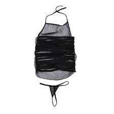 Lace Dress Polyester Fashion design + G String XS-L Sleepwear Robes Black Sex