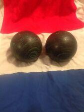 2 Black And Green DUCKPIN BOWLING BALLS