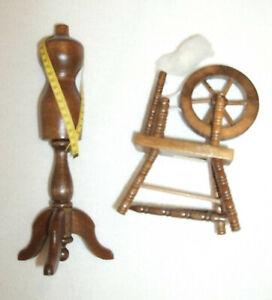 Bodo Hennig Schneiderpuppe Nr. 26714 Holz 1:10 + Spinnrad - wie NEU