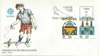 SPD FDC First Day Spain edifil #2885-2886 Europe Cept 1989