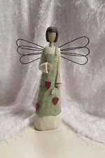 """garden ANGEL, wood, 16"""" tall, metal wings span 10.25"""""""