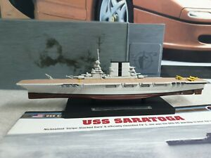 ATLAS EDTIONS - USS SARATOGA - 1/1250 SCALE MODEL - BATTLE SHIP COLLECTION
