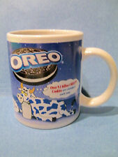 Oreo Coffee Mug Cup Kraft Foods Cookies Spotted Cows Milk Blue White 10 oz 31521