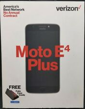 "Moto E4 Plus Verizon Prepaid Smartphone 4G LTE 16GB 5.5"" HD 13MP Fingerprint New"