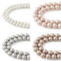 1strand Shell Pearl Beads Frosted Round Loose Beads DIY Bracelet Making