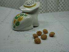 Vintage Glass-Domed Wave Design-Shank Buttons-Lot of 6