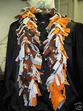 Scarf Fleece Boa Handmade football pattern orange gray