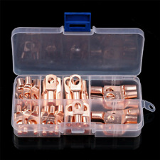 120pcs Copper Wire Lugs Battery Cable Ends Terminal Connectors Assortment Kit