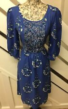 BNWT MONSOON Blue Floral Shift Tunic Dress Size 8 UK RRP £50