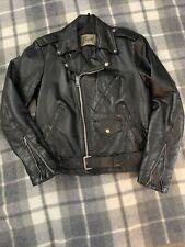New listing Men's Vintage Black Leather Motorcycle Jacket Size 42R