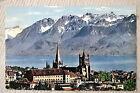 """CPM """" LAUSANNE - OUCHY - La Cathédrale et les Alpes"""