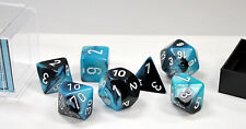 Dungeons & Dragons Fantasy 16mm 7 Piece Dice Set: Gemini Black/Shell 26446