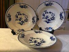 3 xTeller Grand Bouquet Manufacture Imperiale Nimy blau/weiß Suppenteller