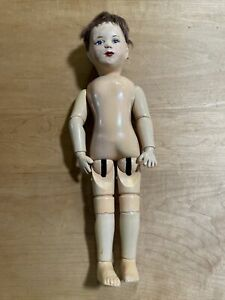 TLC Repainted Character Face Schoenhut Doll-poses Great-Nude-glued On Mohair Wig
