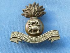 The Royal Dublin Fusiliers cap badge.  Pre 1922.