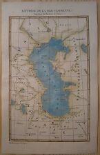 1838 Duvotenay map LITTORAL OF CASPIAN SEA