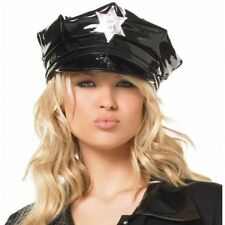leg avenue Vinyl Cop Hat with Badge Adult - One-Size fancy dress cosplay gay fun