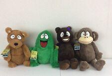 """Set of 4 Plush Stuffed Animals Bear Frog Monkey Kangaroo """"God made just one ME!"""""""
